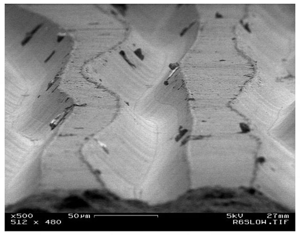 Vinyl Record Grooves Magnified 500x