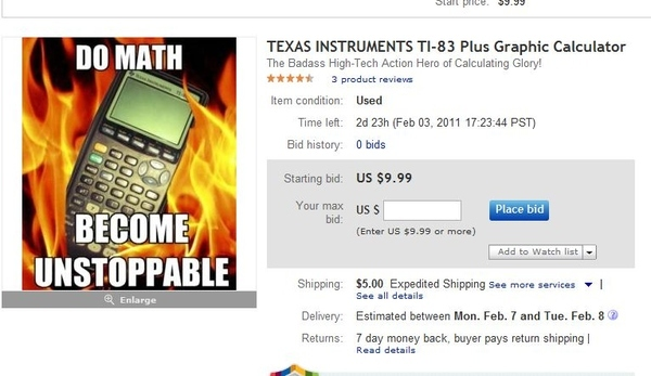 Best Calculator Ever On EBay