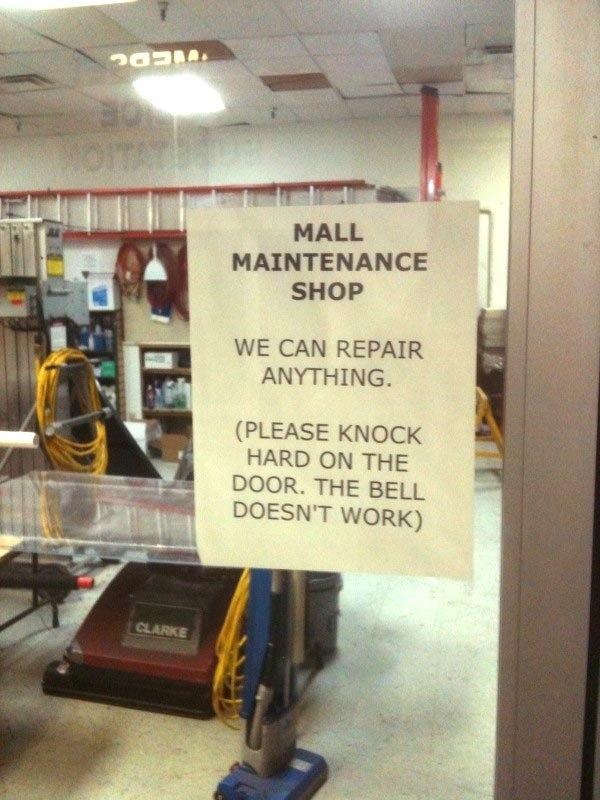 Maintenance Store Malfunction