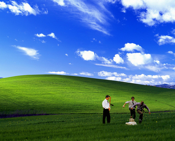 Office Space Bliss Wallpaper