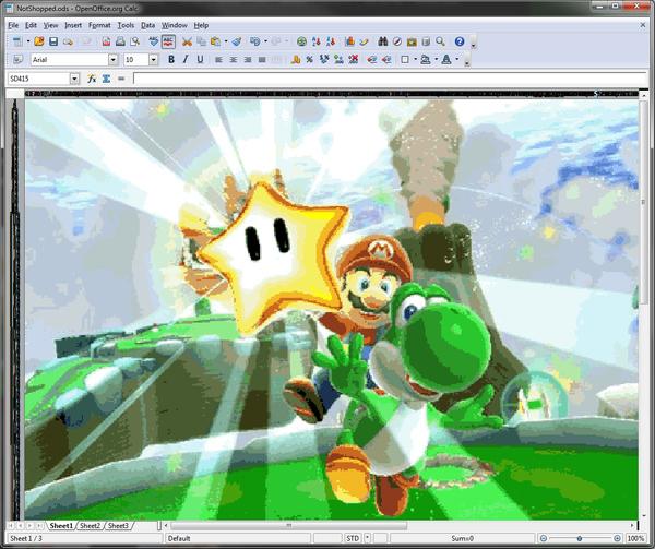Mario. In Excel.