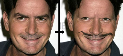 Charlie Sheen's Eyebrows Must Become A Mustache