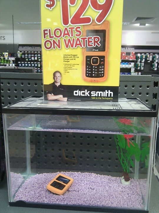 Phone Floats On Water