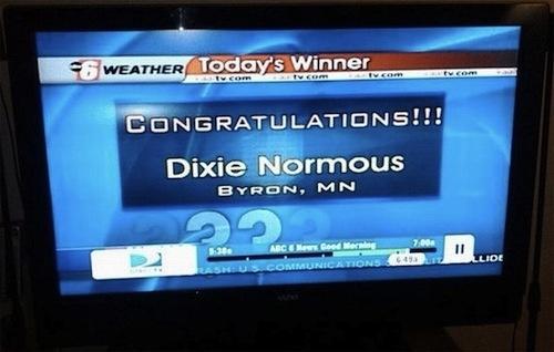 Congratulations, Dixie