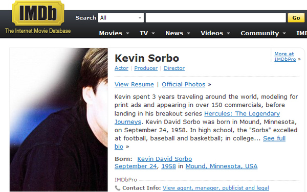 Nice headshot, Kevin Sorbo.