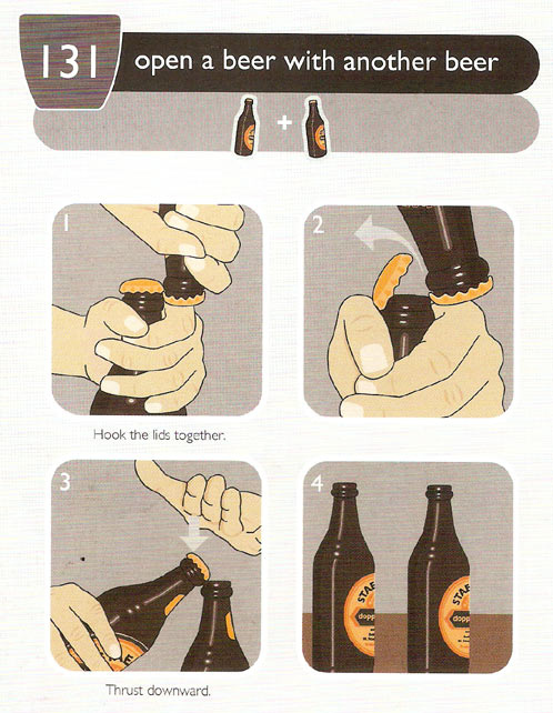 Life Hack of the Day: Open a Beer With Another Beer.