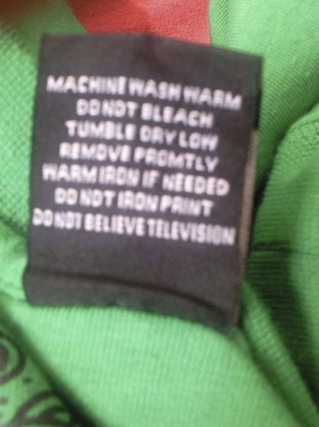 Sound Advice From A Garment Label