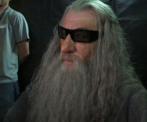 Gandalf The Wizard Wearing 3D Glasses