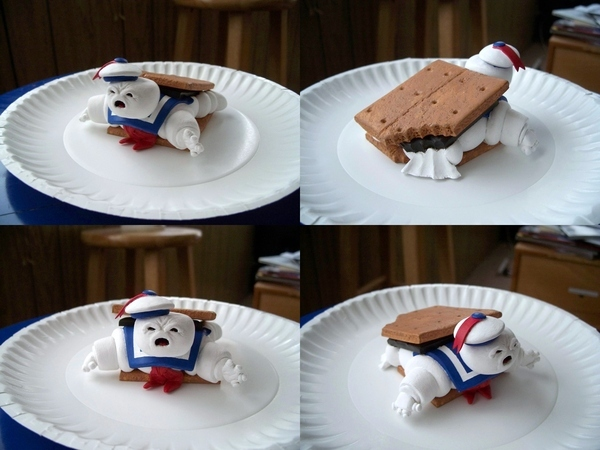 Stay-Puft Man Trapped In A S'More