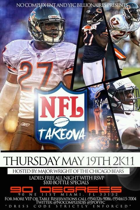 Athlete Parties: Major Wright of the Chicago Bears edition