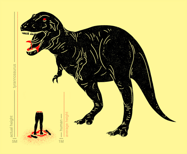 Humans And T-Rex; A Height Comparison