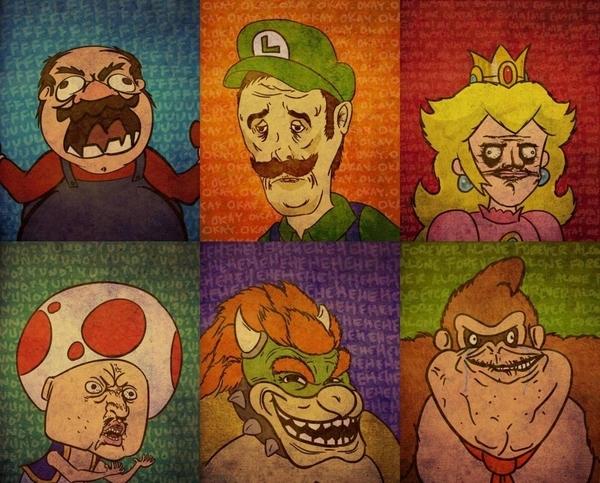 Mario Rage Faces