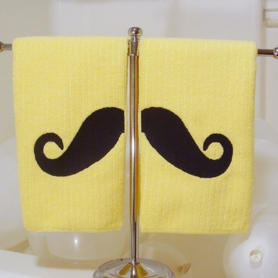 Mondo Mustache Towels