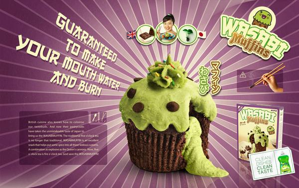 Wasabi Muffins
