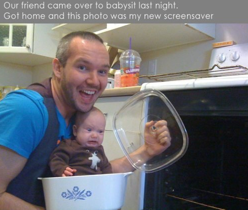 Our Friends Came Over to Babysit Last Night...
