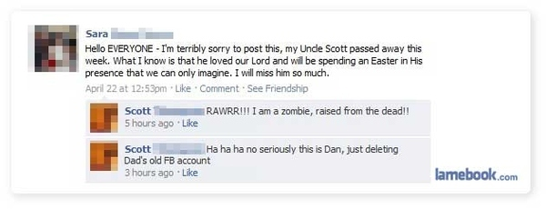 Death On Facebook
