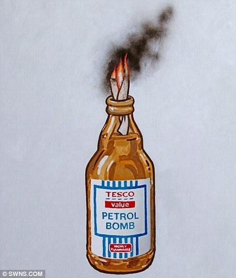 Banksy's 'Petrol Bomb' Poster