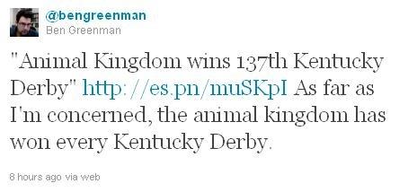 Best Kentucky Derby Tweet