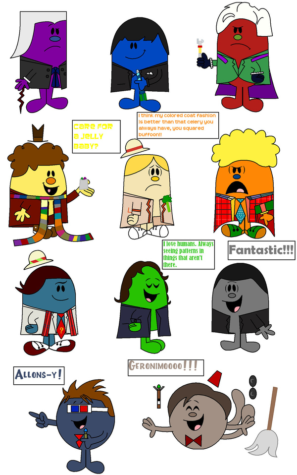 All 11 Doctor Whos As Mr. Men