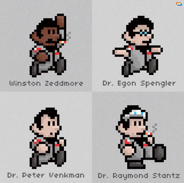 8-Bit Super Mario Ghostbusters