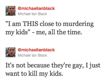 Michael Ian Black On Killing His Kids