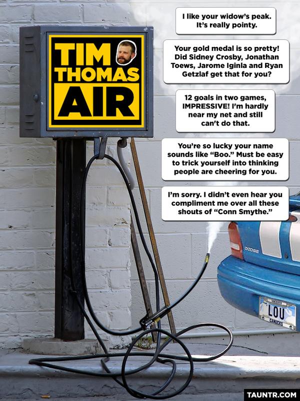 Tim Thomas Air Pump