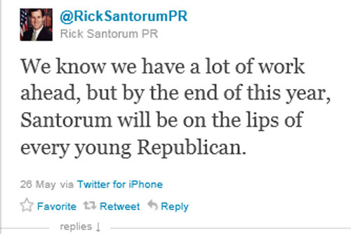 Santorum Will Be On Every Young Republican's Lips