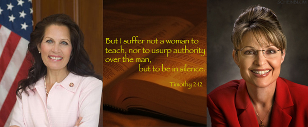 The Bible's Take On Bachmann / Palin in 2012