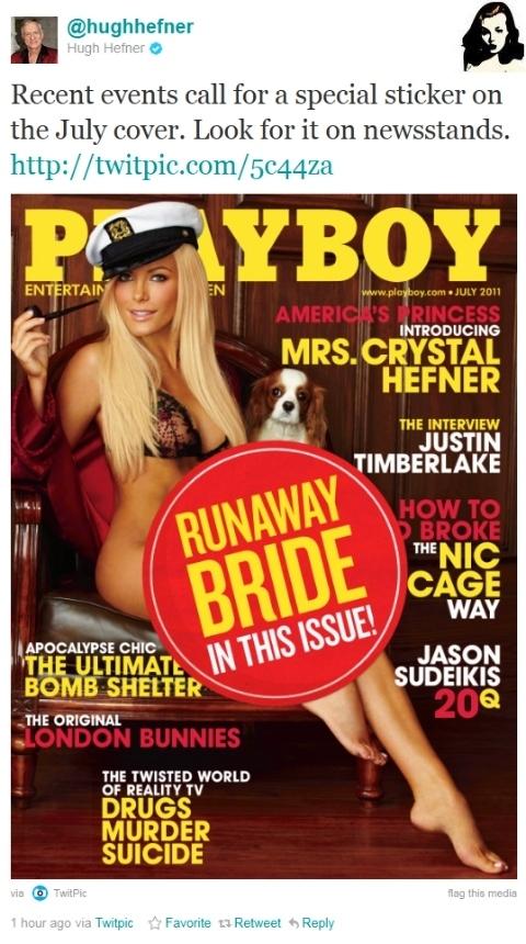 Crystal Harris 'Runaway Bride' Playboy Cover