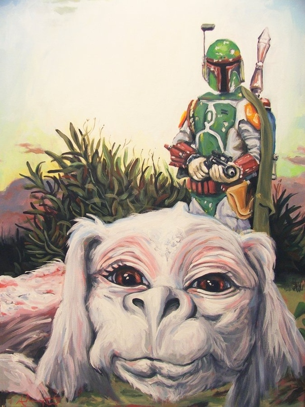 Boba Fett And Falkor