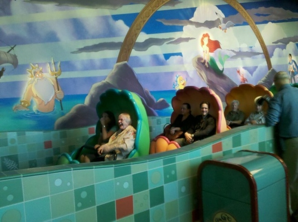 Jodi Benson (Ariel) & Pat Carroll (Ursula) Ride The Little Mermaid Ride At Disneyland