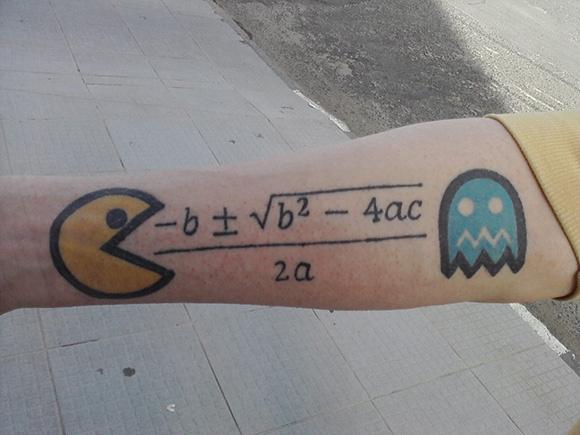 Pac-Math Tattoo