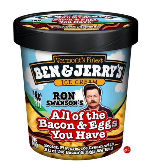 Ben & Jerry's Ron Swanson Ice Cream
