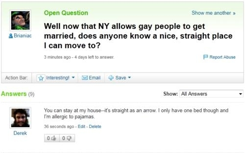 Same-Sex Marriage Discussions On Yahoo! Answers