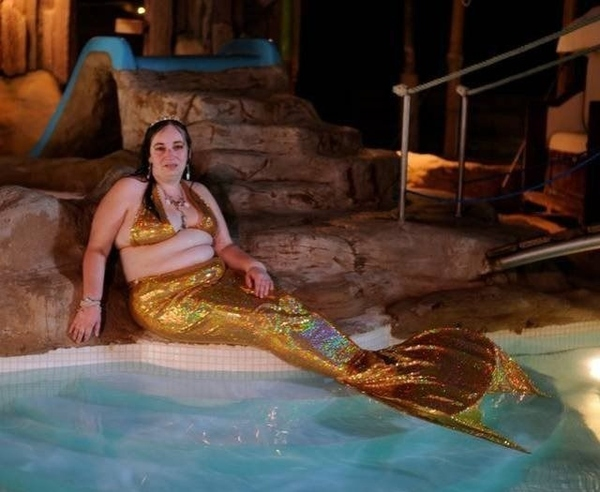 Golden Mermaid Costume
