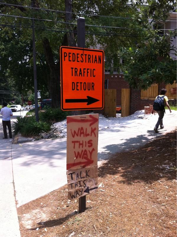 Aerosmith Pedestrian Detour