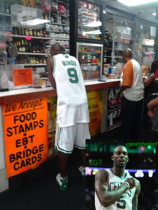 What is Kevin Garnett doing at a hood liquor store?