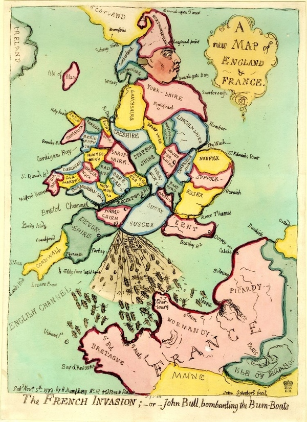 A Map of England and France