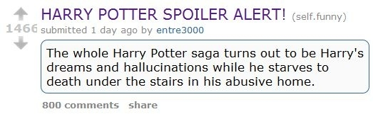 Harry Potter Spoiler Alert