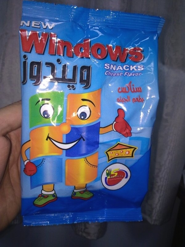 Cheese Flavored Windows Snacks