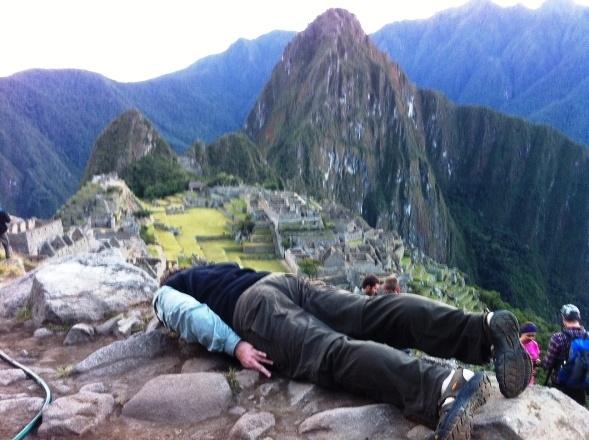 Planking At Machu Picchu