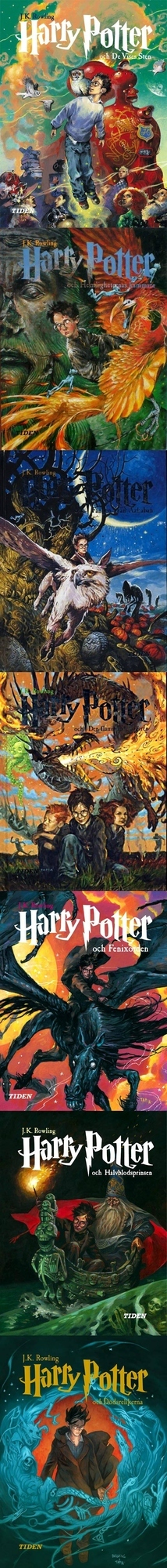 Swedish Harry Potter Book Covers