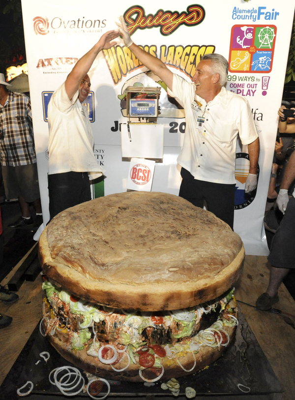 World's Biggest Burger Breaks Record
