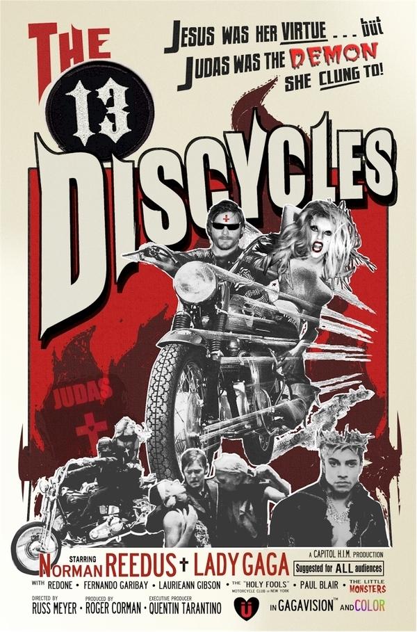 Lady Gaga Biker Movie Poster