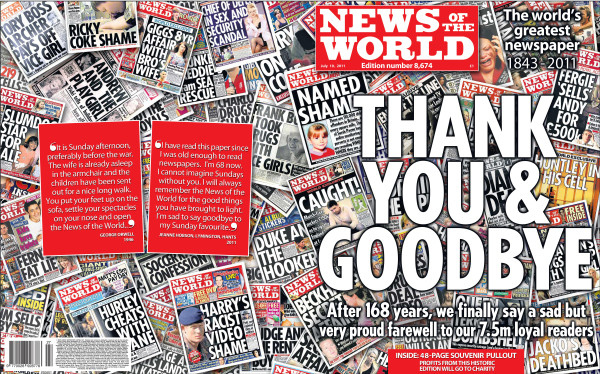 The Final News Of The World Front Cover