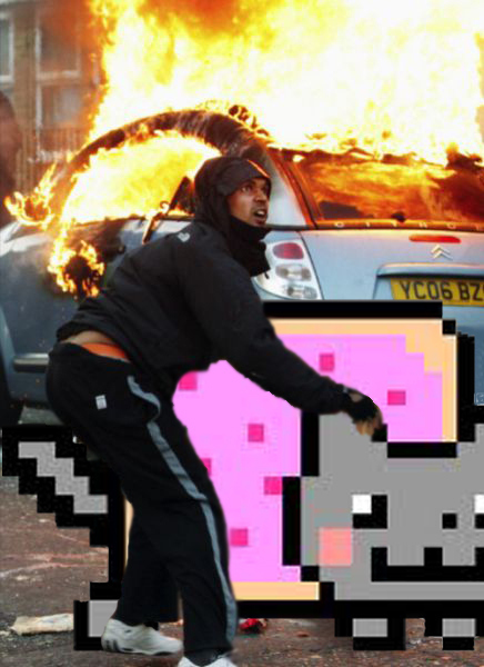 London Looters Now Stealing Nyan Cats