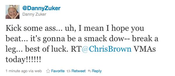Danny Zuker Pwns Chris Brown Again