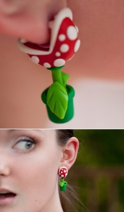 Piranha Plant Earrings - Nintendo/SuperMario