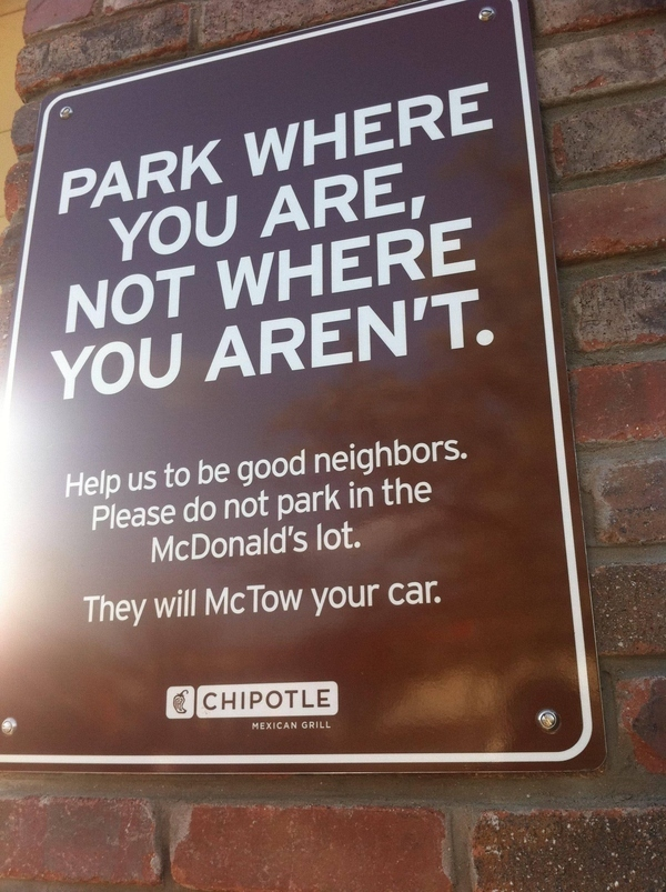 McDonalds Parking Sign