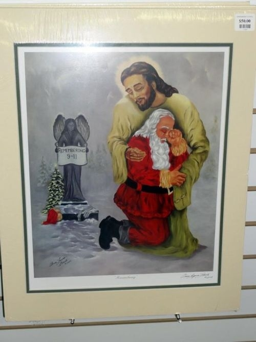 Jesus Comforting Santa Over 9/11